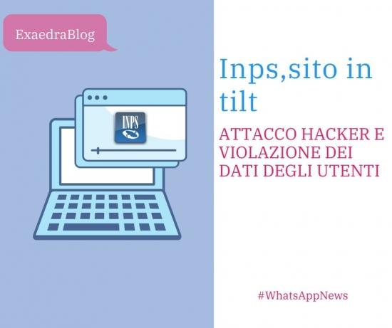 Bonus Inps sito in tilt e attacco hacker