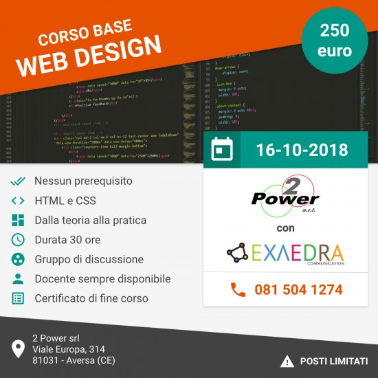 Flyer Corso Base Web Design