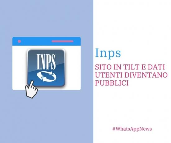 Inps sito in tilt e violazione dati