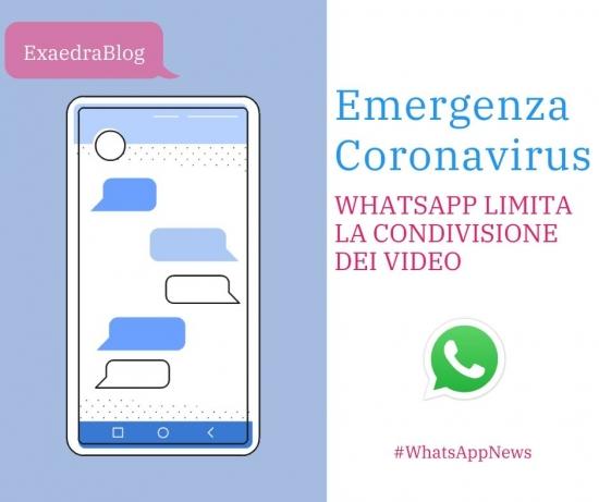 Limitazione condivisione video stato whatsapp