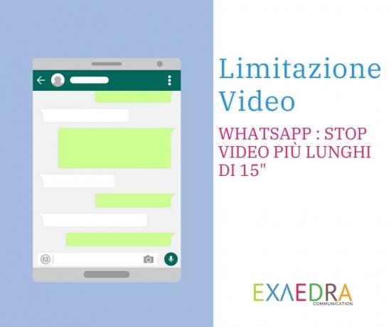 Limite condivisione video stato whatsapp