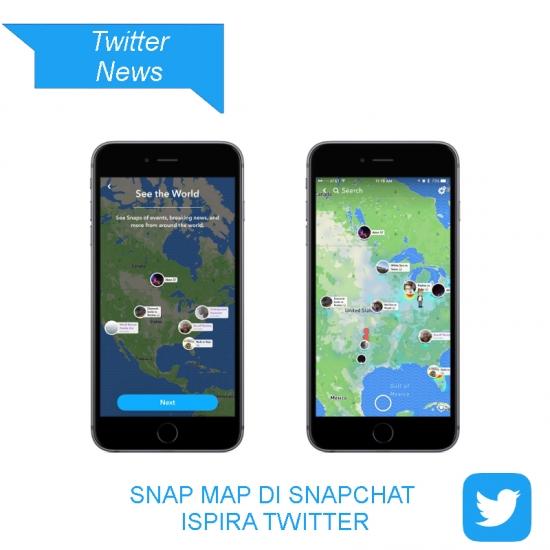 Twitter sperimenta lo Snap Map